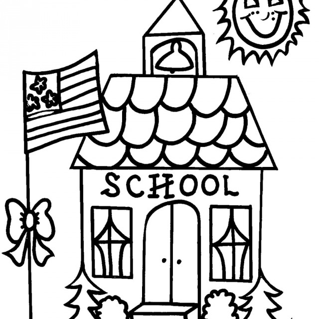 school images coloring pages - photo#8