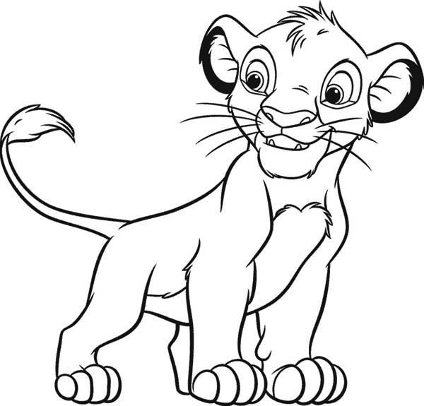 simba disney coloring pages
