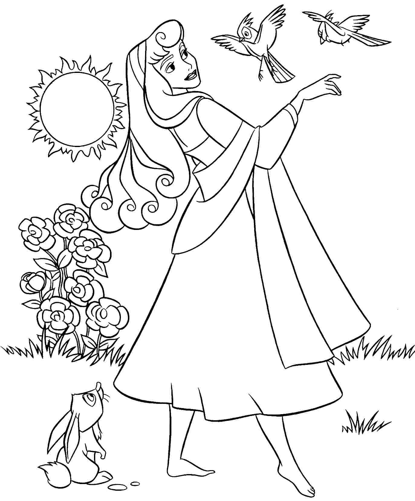 Sleeping Beauty Disney Coloring Pages 02