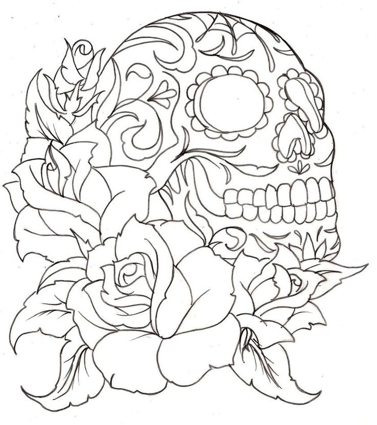 sugar skulls and roses coloring pages only coloring pages
