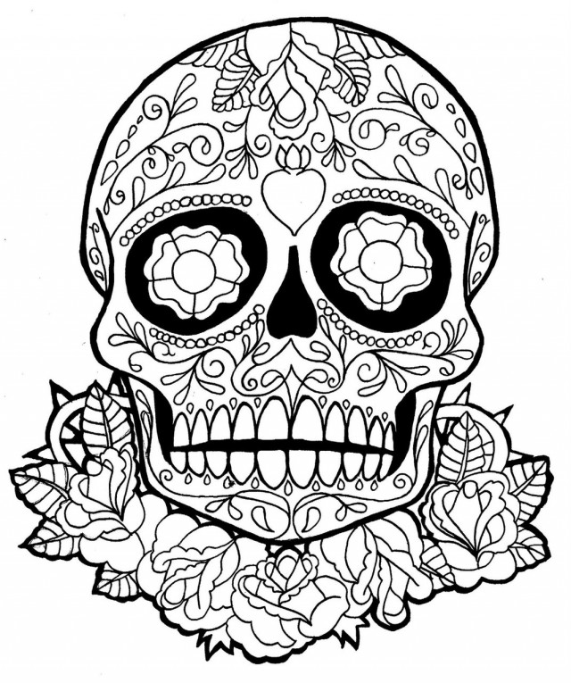 Gothic Skull And Rose Coloring Pages Coloring Pages Skulls And Roses Coloring Pages