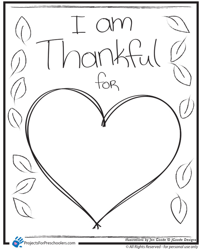 thankful color pages for toddlers