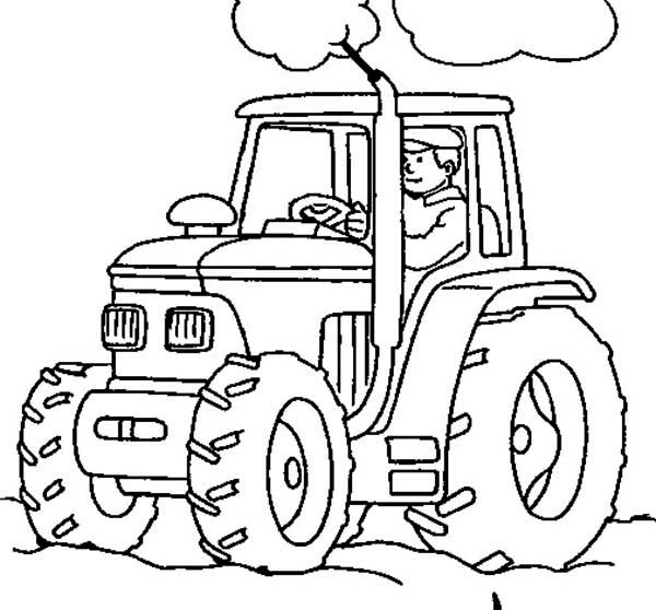 tractor colouring pages