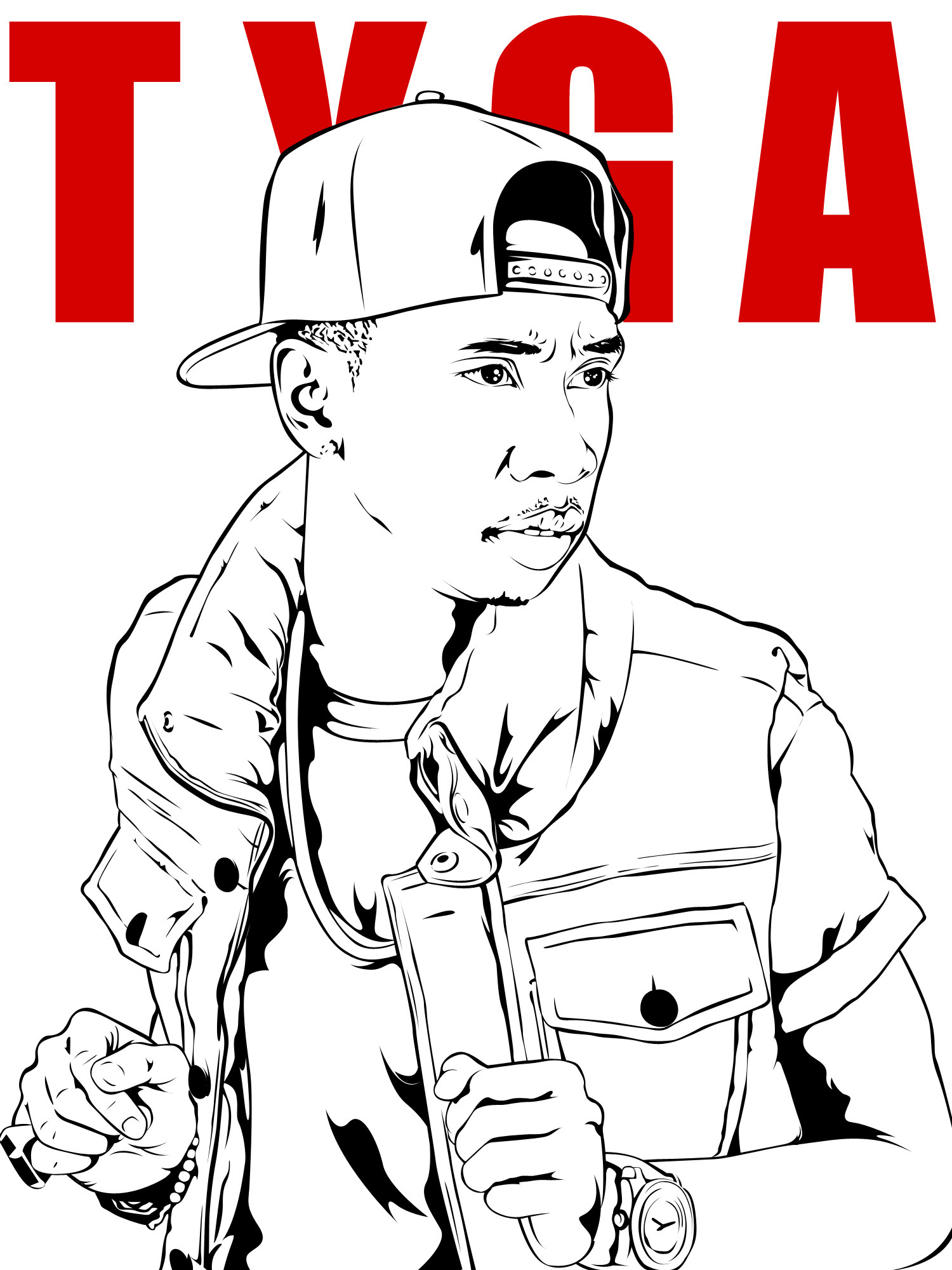 Tyga Coloring Pages 01