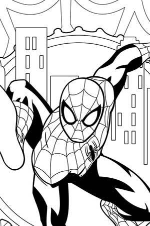 Ultimate Spiderman Coloring Pages Free Printable Online