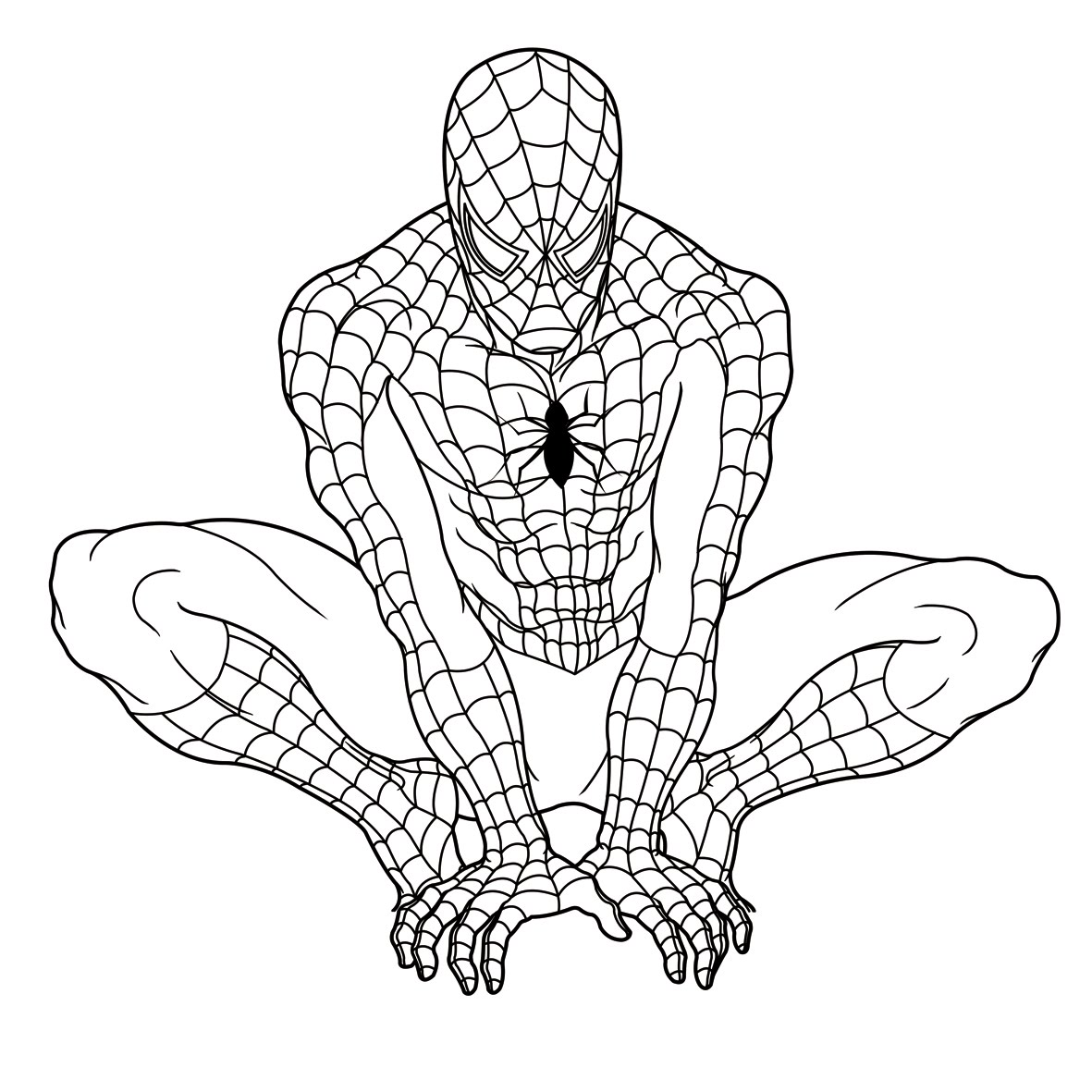 spiderman color pages - ultimate spiderman coloring pages only coloring pages
