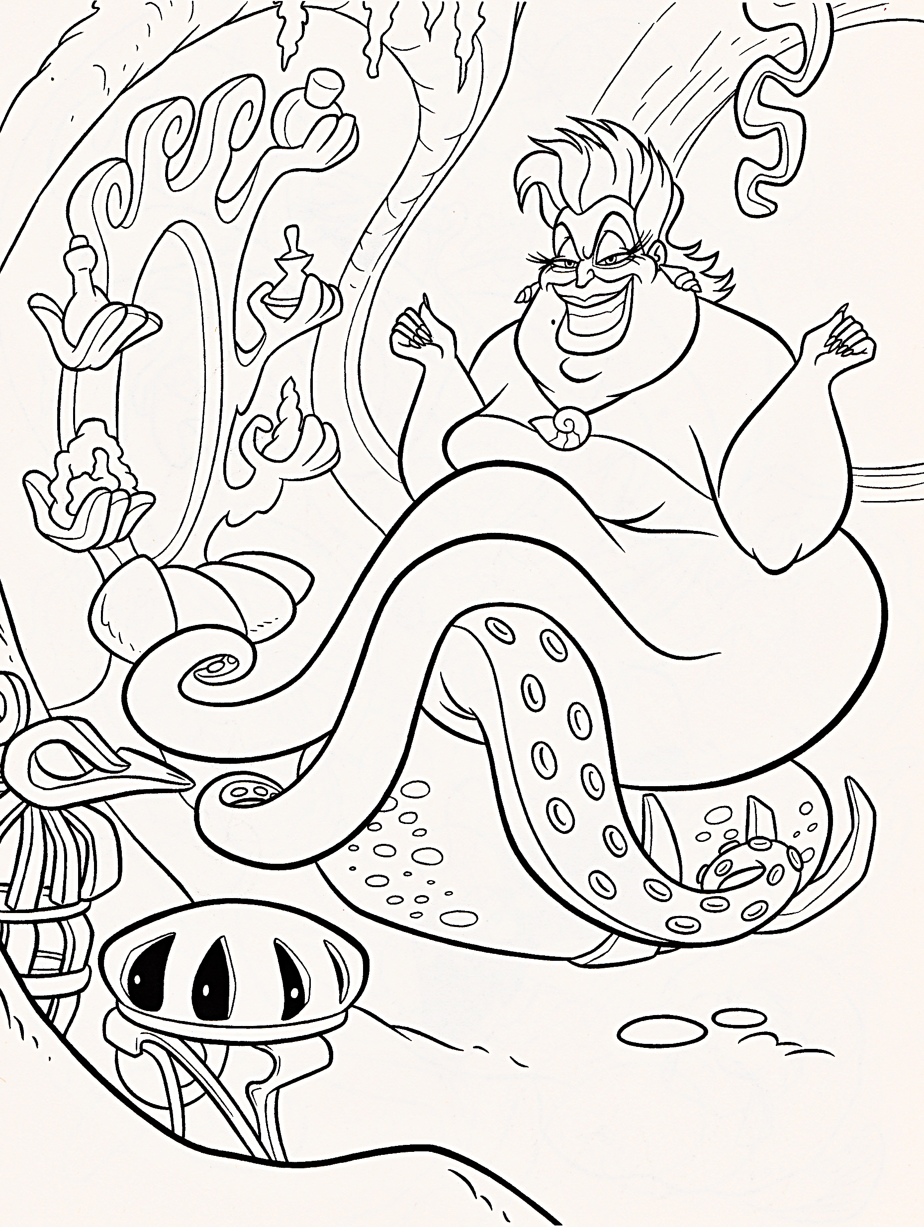 Ursula Coloring Pages Only Coloring Pages Ursula Coloring Page