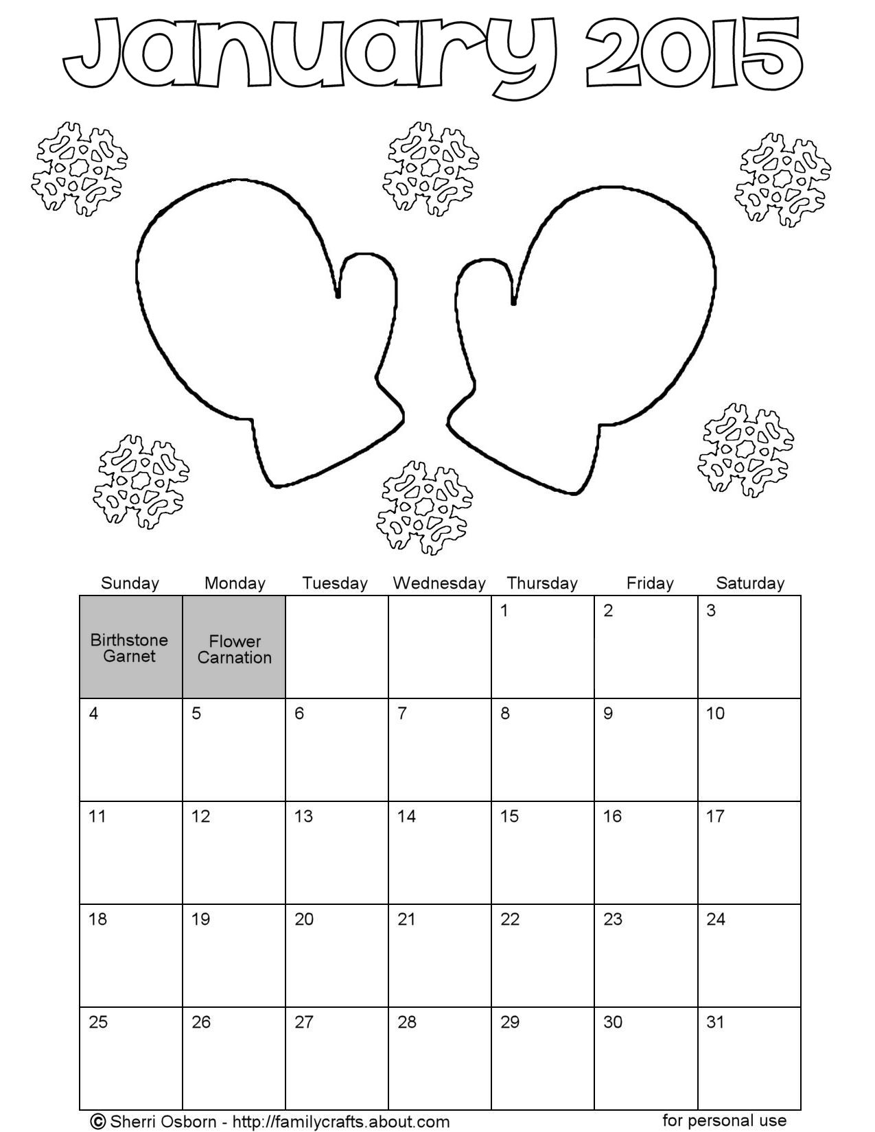 Weather Calendar Coloring Sheets 01