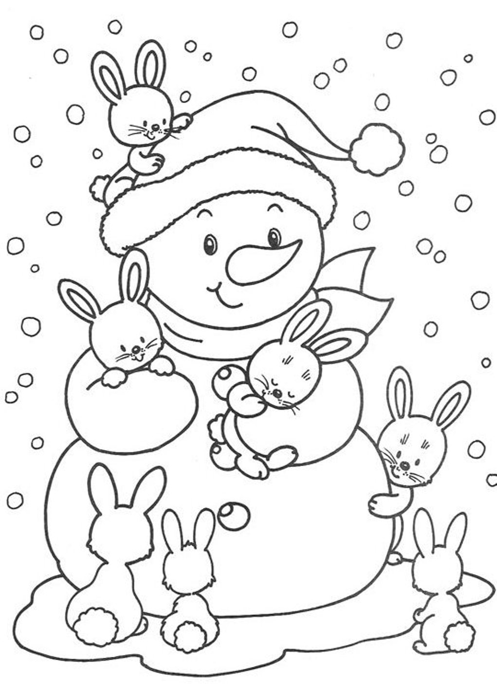 free winter coloring pages - photo#29