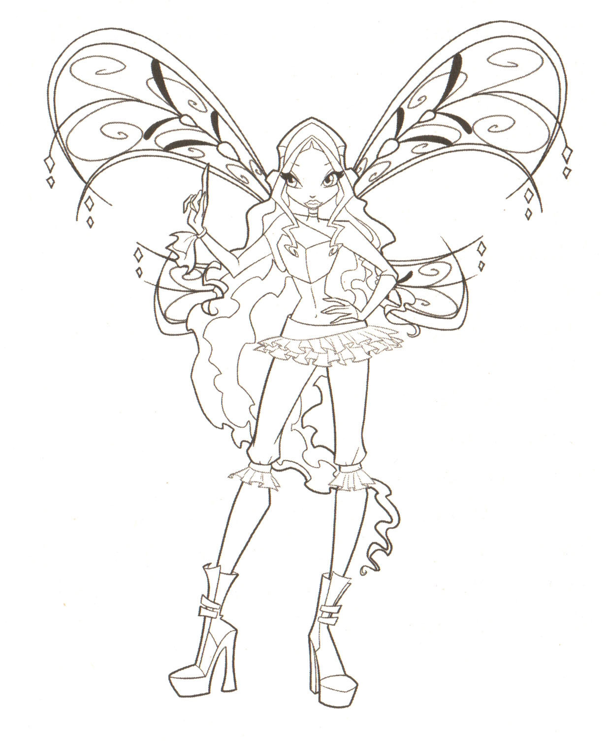 Winx Club Coloring Pages Only