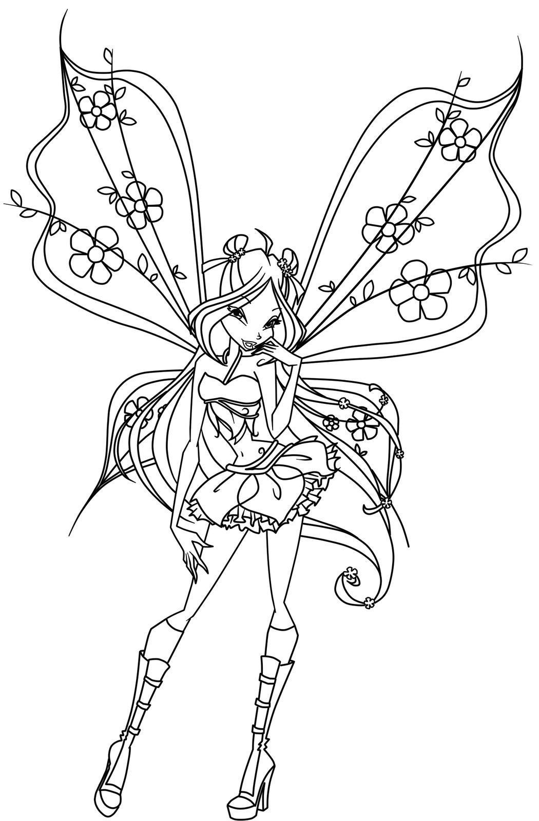 Winx club coloring pages only coloring pages for Winx coloring pages printable