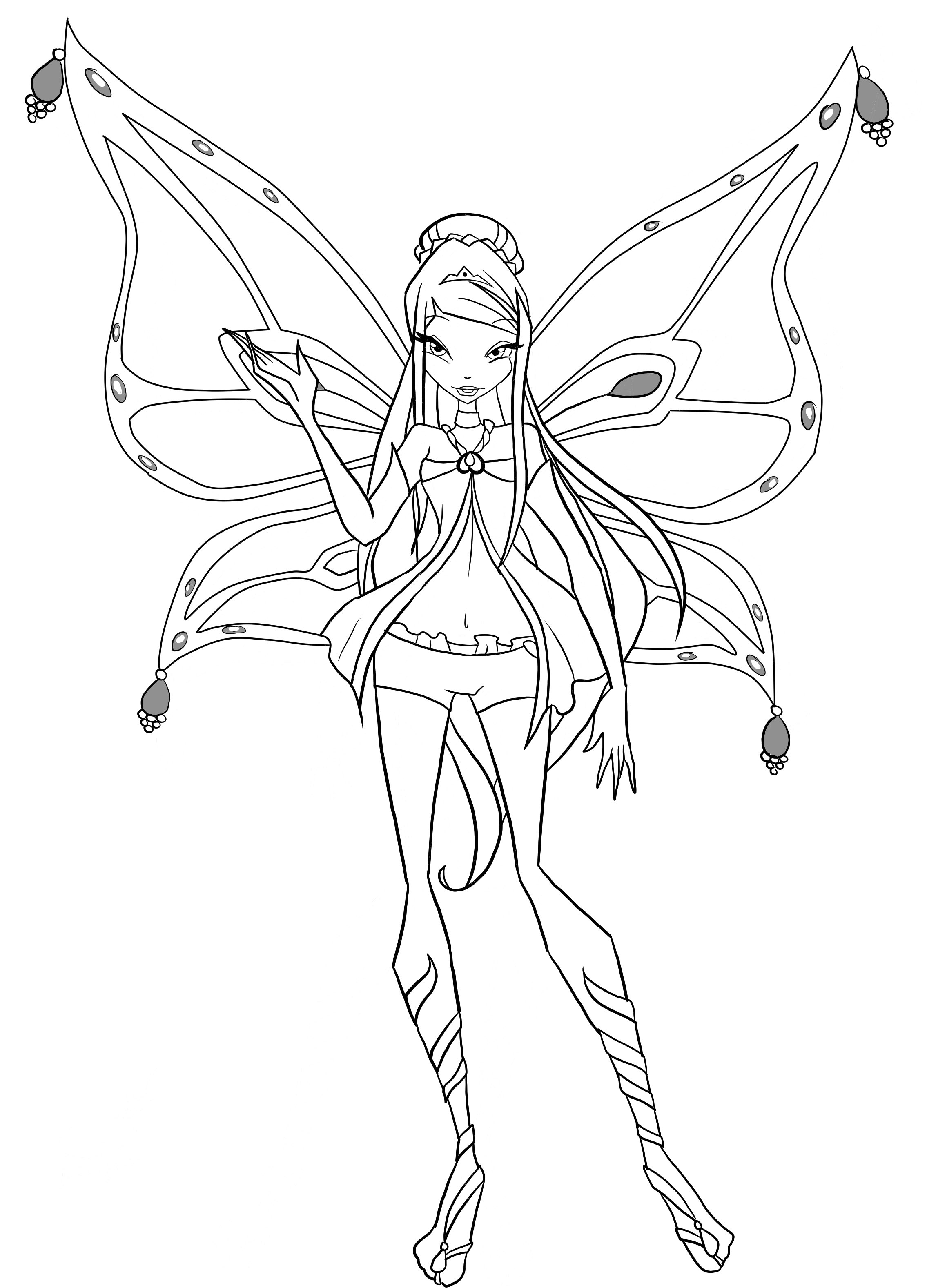 Free Coloring Pages Of Winx Sophix Stella