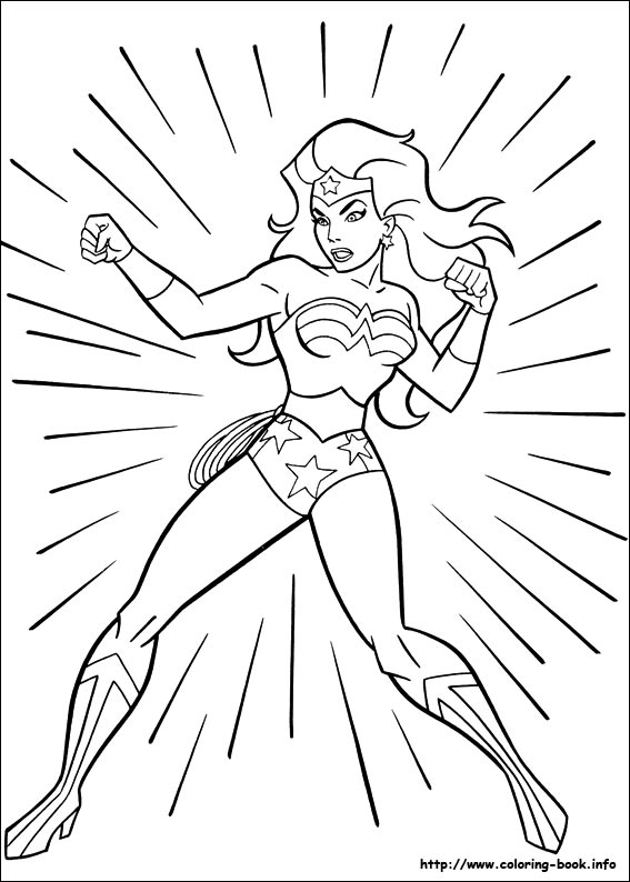 wonder woman coloring pages Only