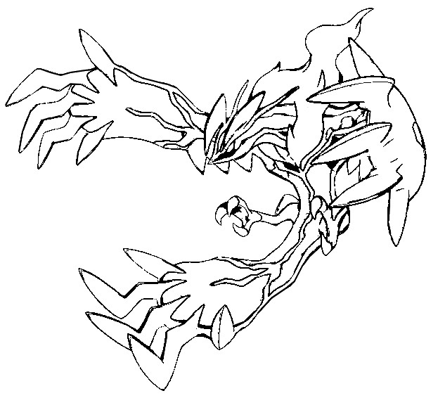 yveltal coloring pages 01
