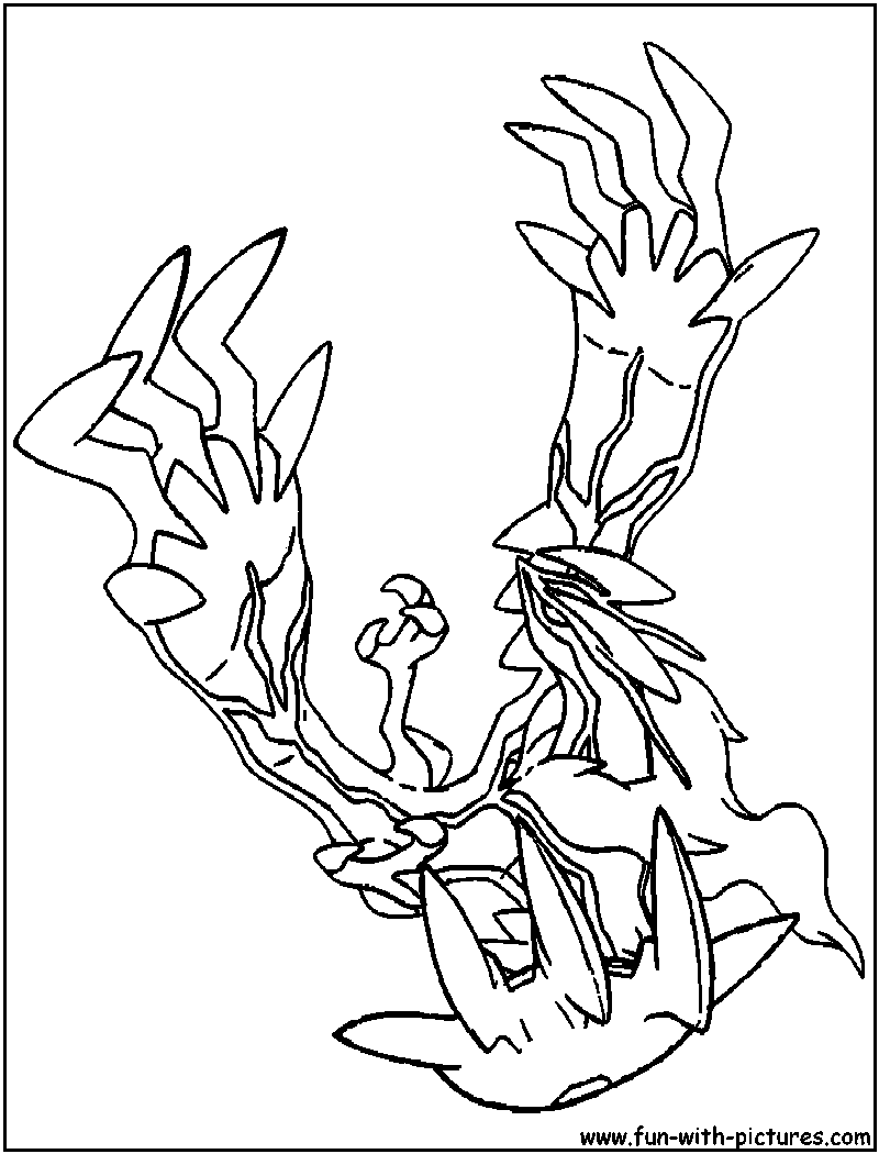 Pokemon coloring pages xerneas - Pokemon Xerneas Coloring Pages Images 5637