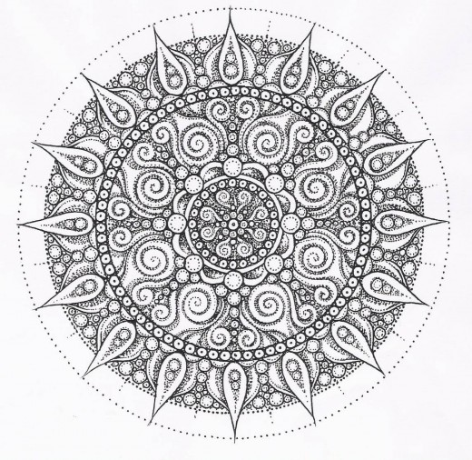 Zentangle Mandala Coloring Pages 01