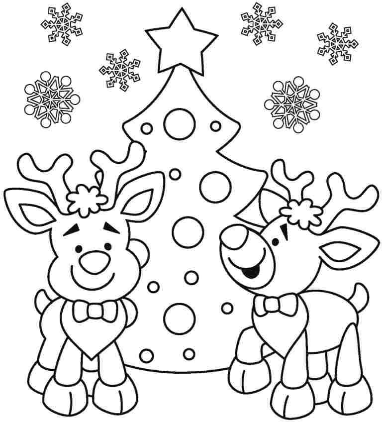 Childrens christmas coloring pictures only coloring pages