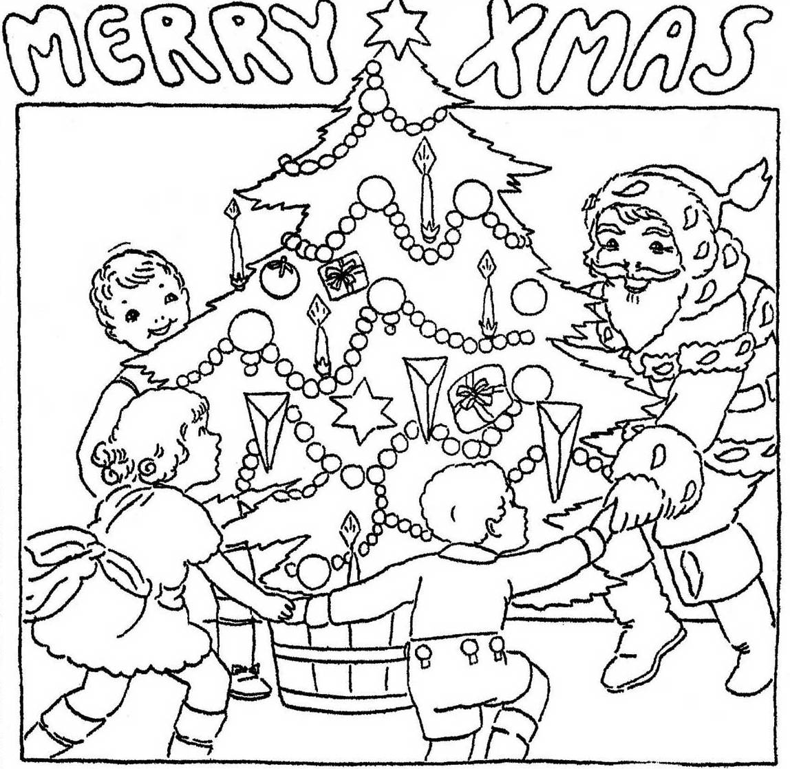 Childrens christmas coloring pictures only coloring pages for Pictures of christmas coloring pages
