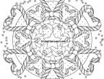 christmas candy cane mandala colouring page