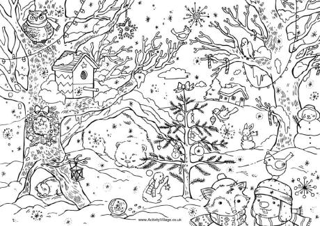 christmas coloring pages for teenagers