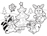 christmas holiday colouring picture to color