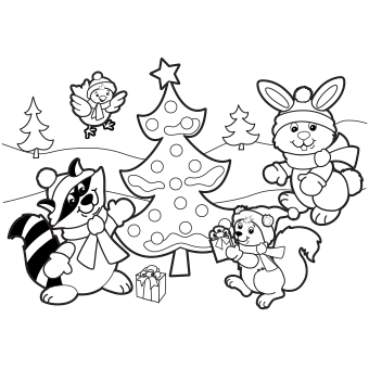 christmas holiday colouring picture to color 01