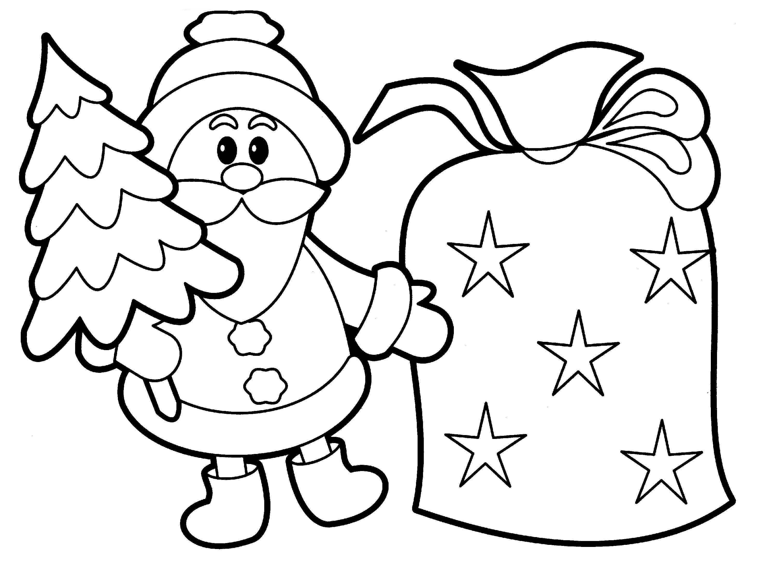 christmas santa coloring picture online
