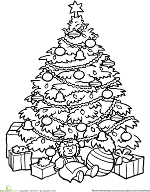 coloring christmas tree 01