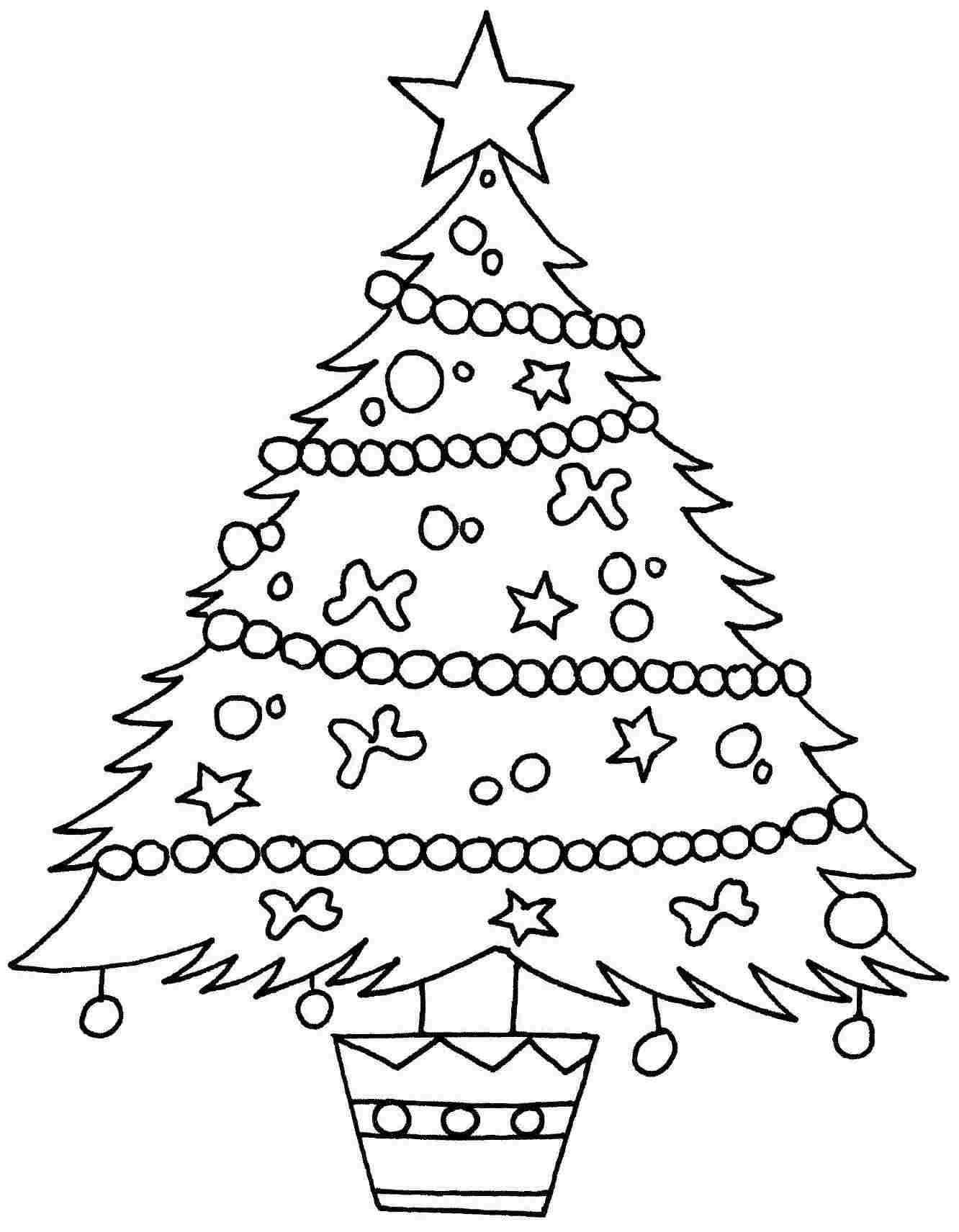 Free Christmas Tree Coloring Pages - Futpal.com