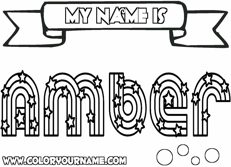 Coloring Pages Your Name 01