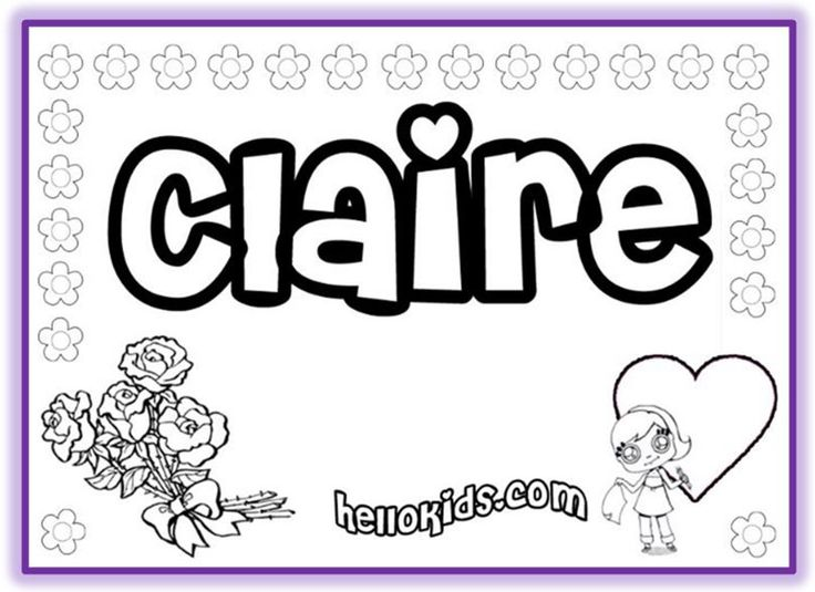 free name coloring pages printables - photo#8