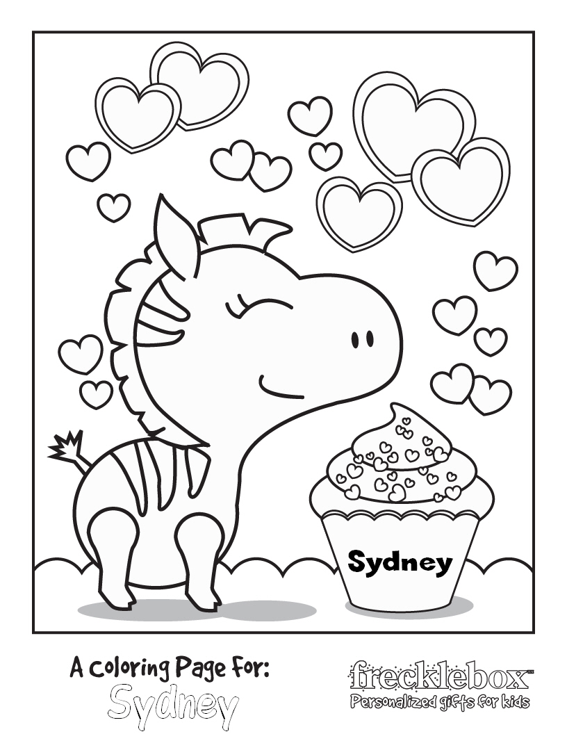free personalized name coloring pages - photo#26