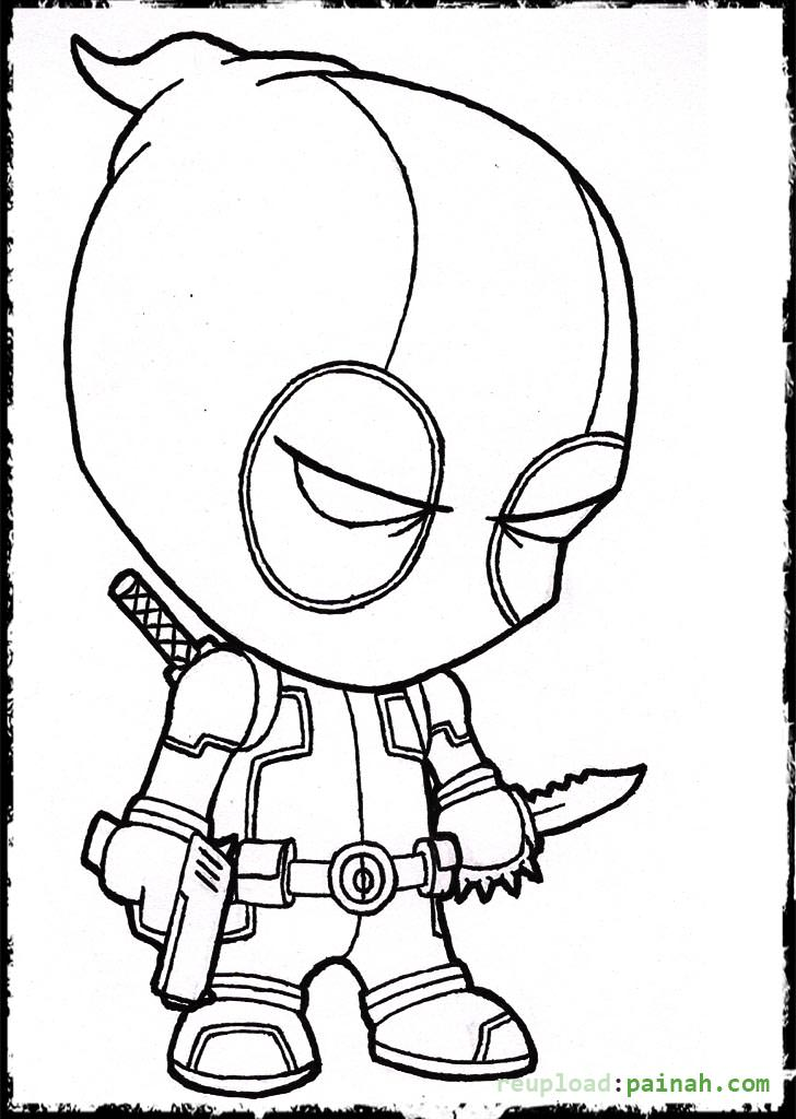 Deadpool coloring pages only coloring pages for Deadpool printable coloring pages