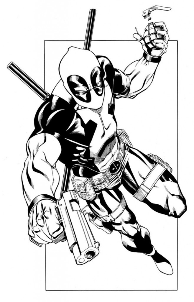 deadpool coloring pages Only