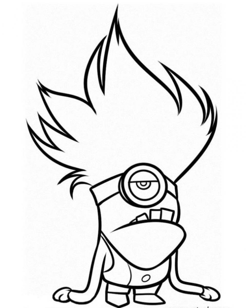 Free Printable Minion Coloring Pages 04