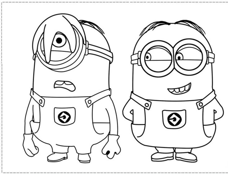 free printable minion coloring