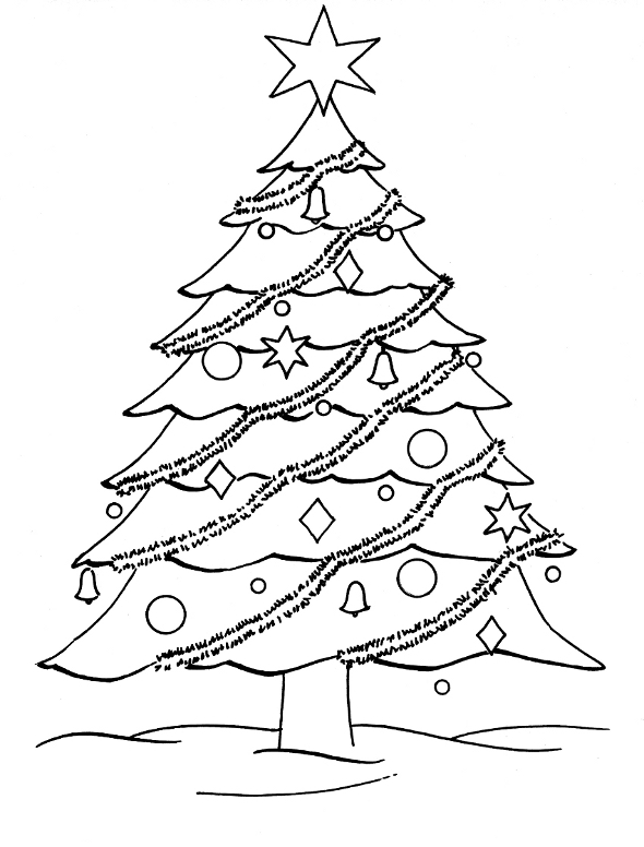 giant christmas tree coloring page 01