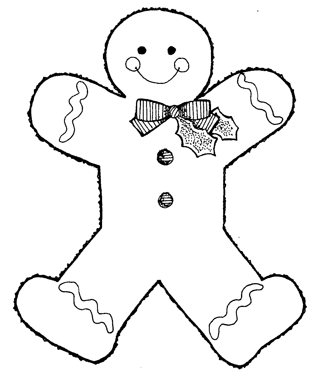 gingerbread man coloring pictures 02