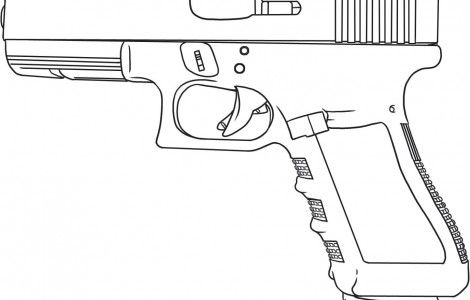 Gun Coloring Pages 01