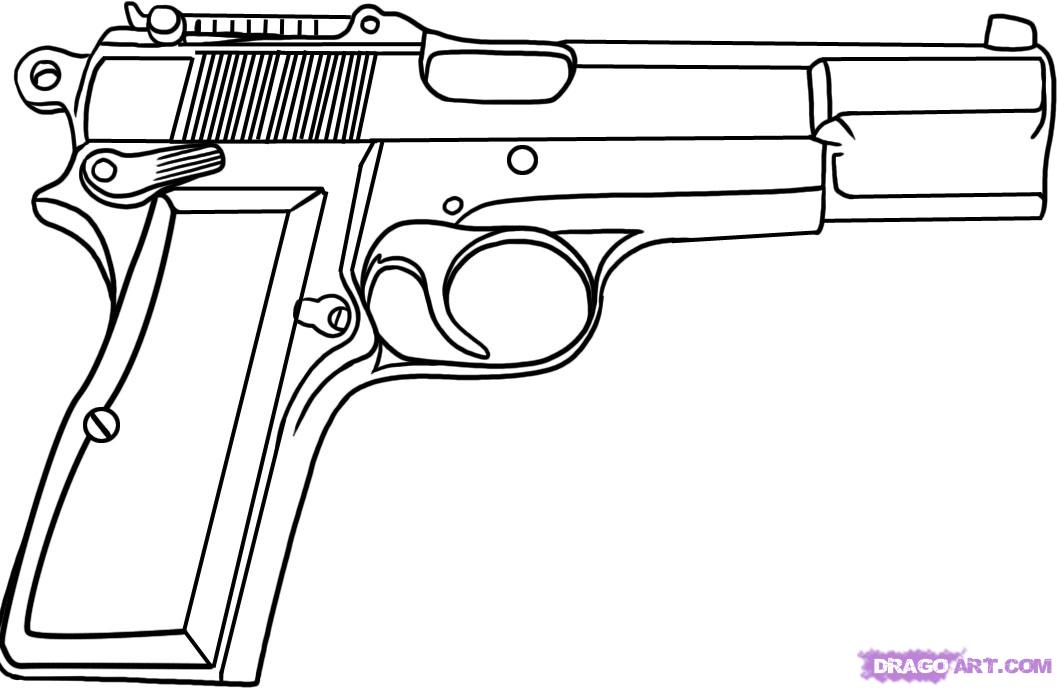pistol coloring pages gun coloring pages only coloring pages