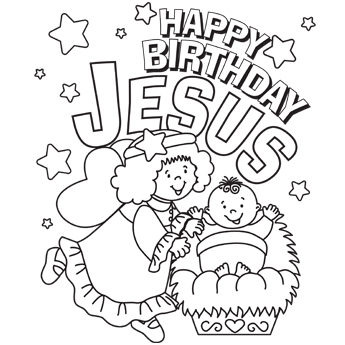 happy birthday christmas coloring page 01