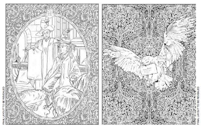harry potter colouring book Free Printable Online harry potter