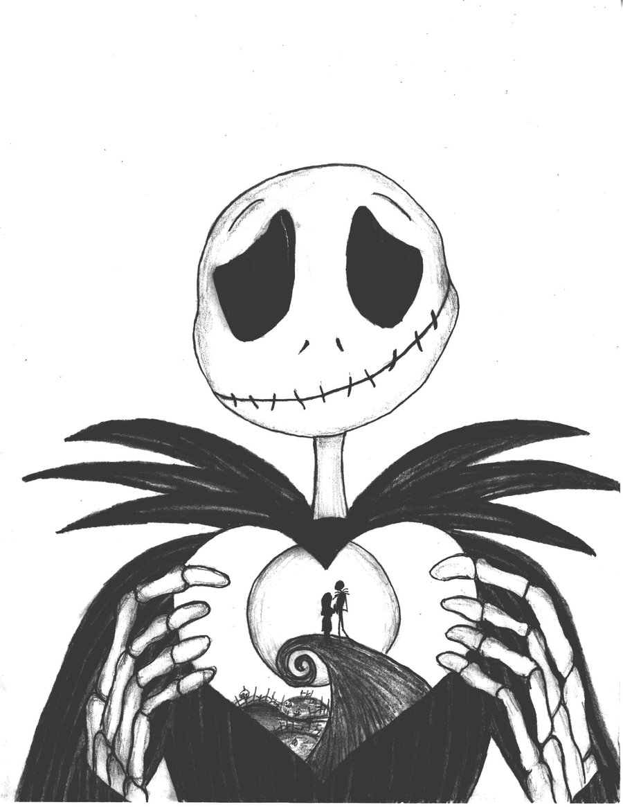 nightmare before christmas coloring pages only coloring