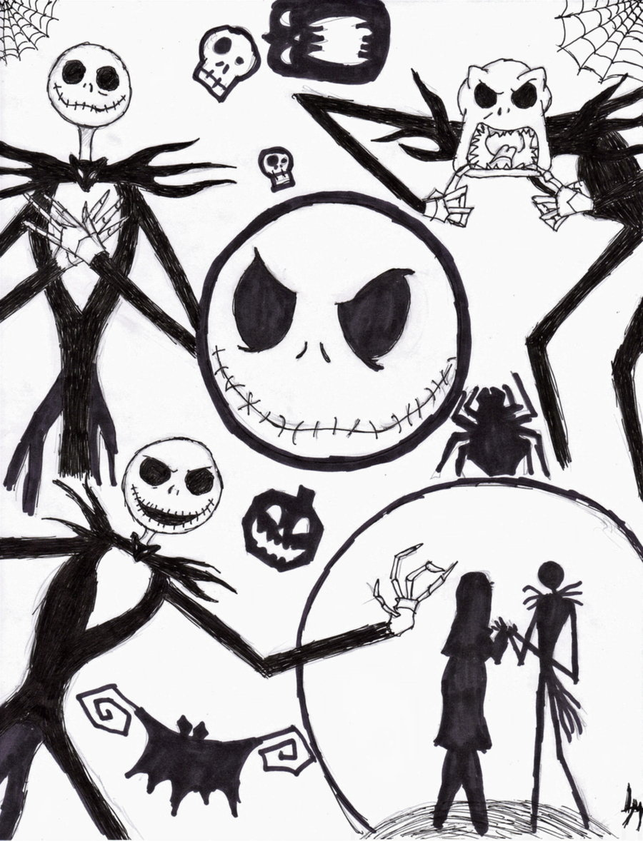nightmare before christmas coloring pages - photo#12