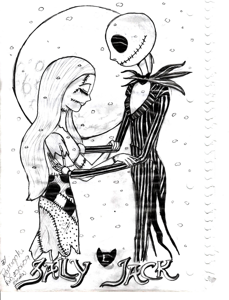 nightmare before christmas coloring