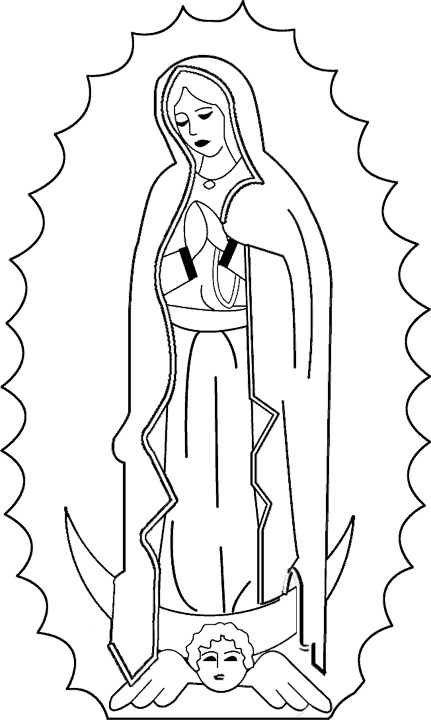 our lady of guadalupe coloring page 02
