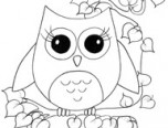 owl coloring page for teenagers