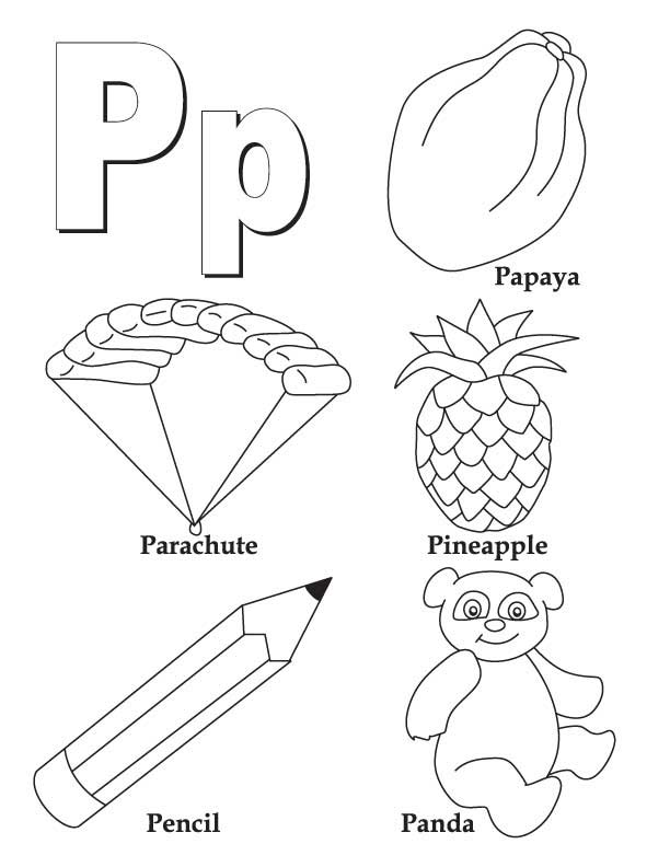 Letter P Coloring Pages Worksheets and Color Posters