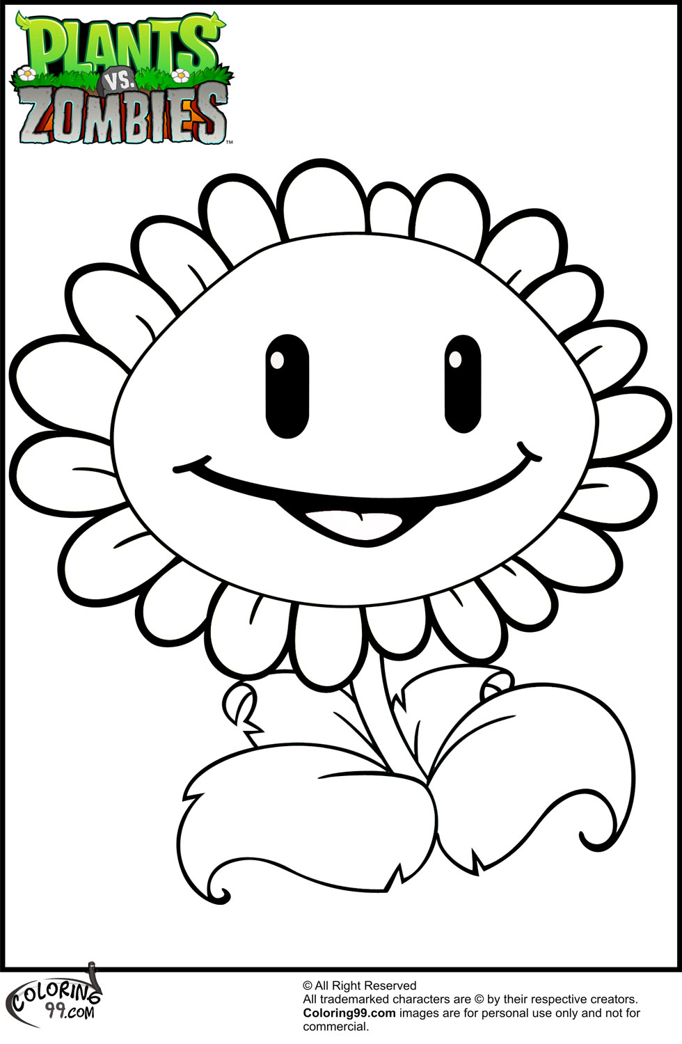 Plants Vs Zombies Coloring Pages Only Coloring Pages Vs Coloring Pages Free