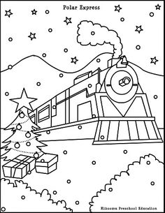 polar express coloring pages 01